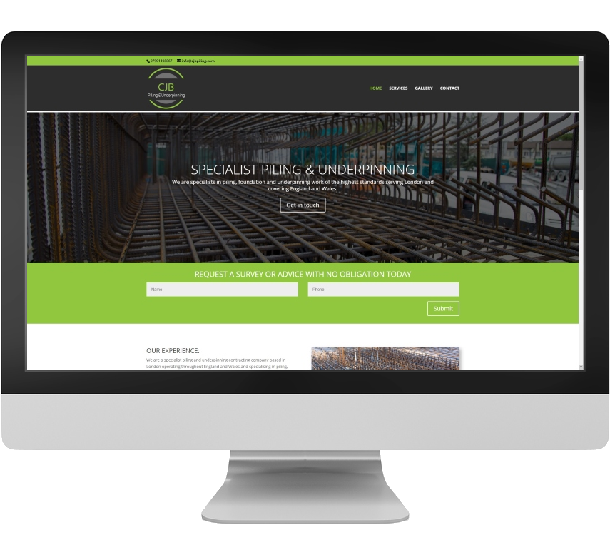 Responsive website design example Somerset