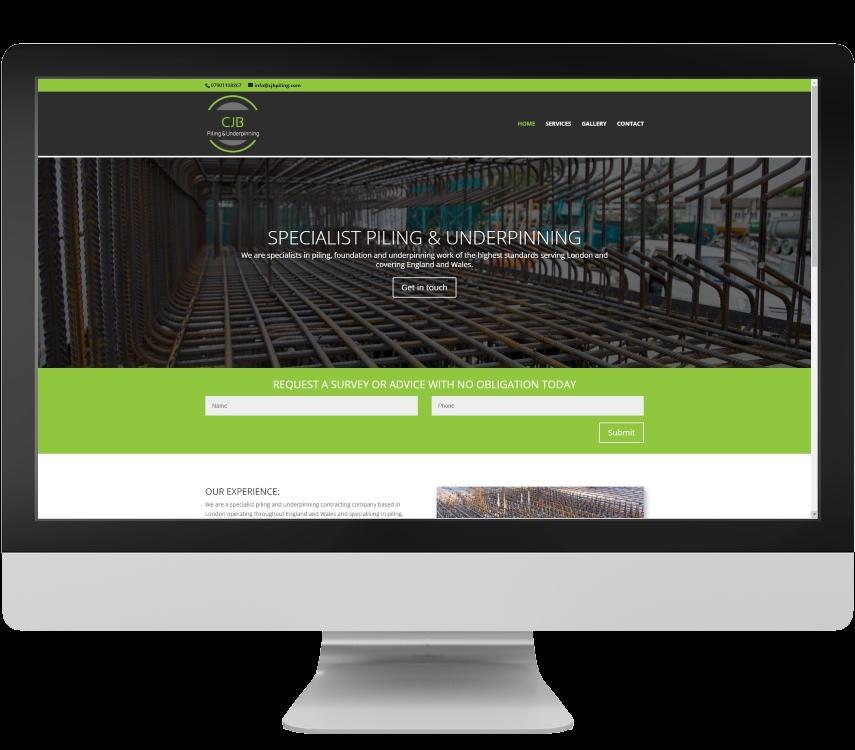 Responsive website design example Somerset