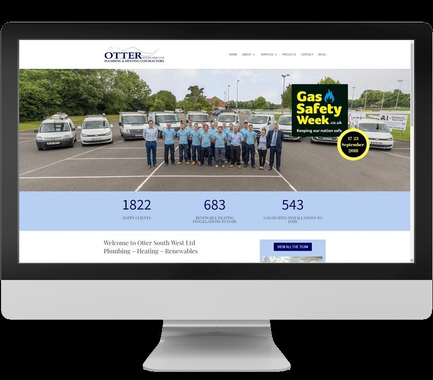 Plumbers website design Somerset